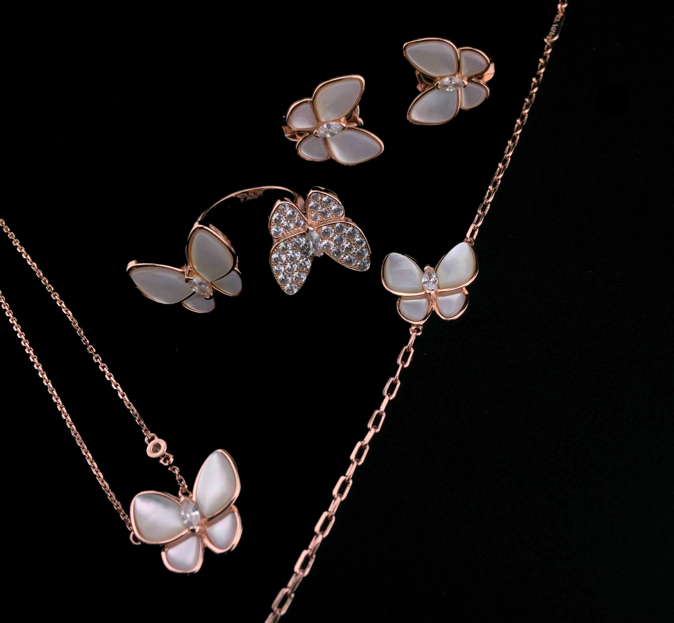 Pearl Butterfly Jewelry Set