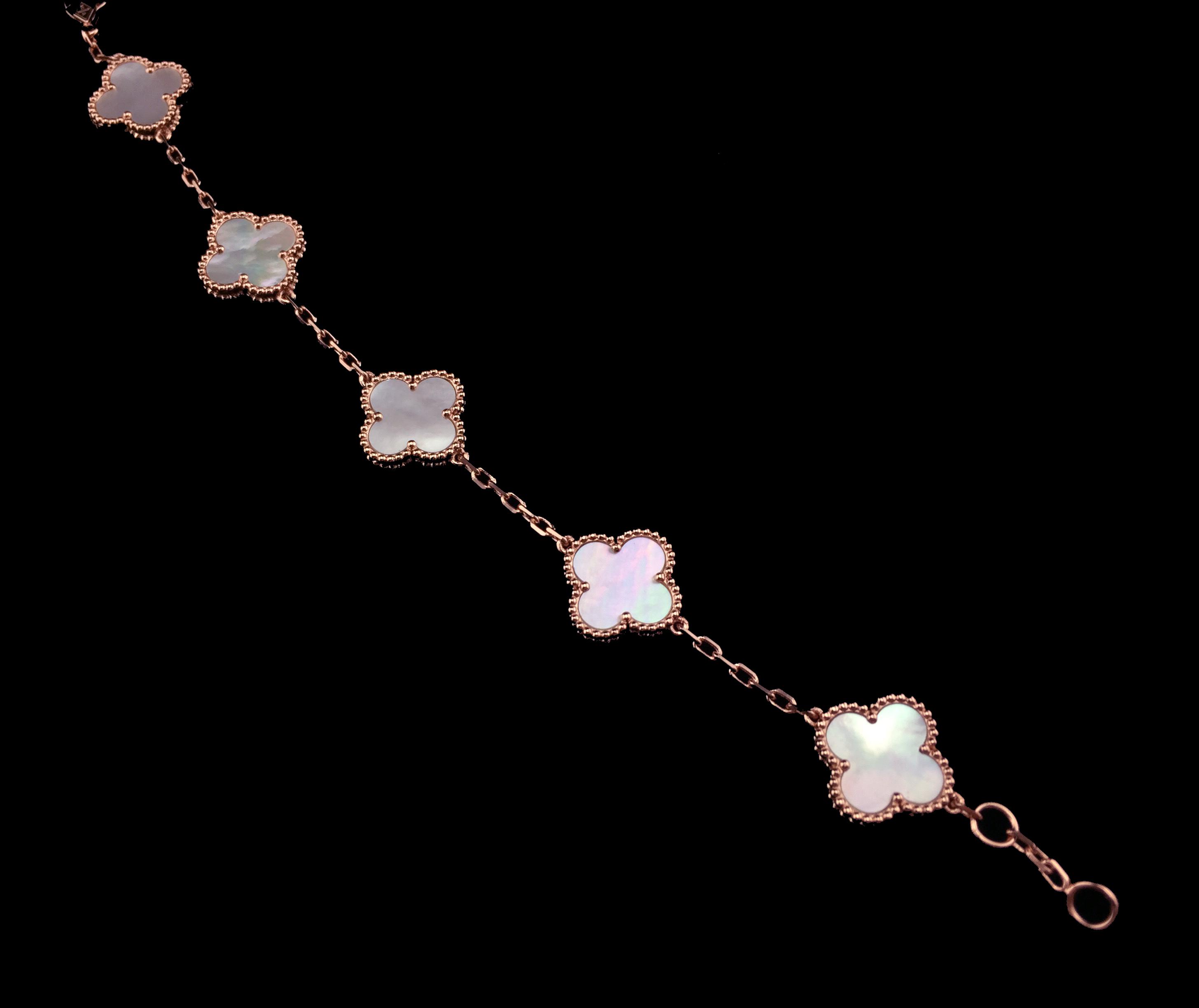 Clover Mother Of Pearl Bracelet